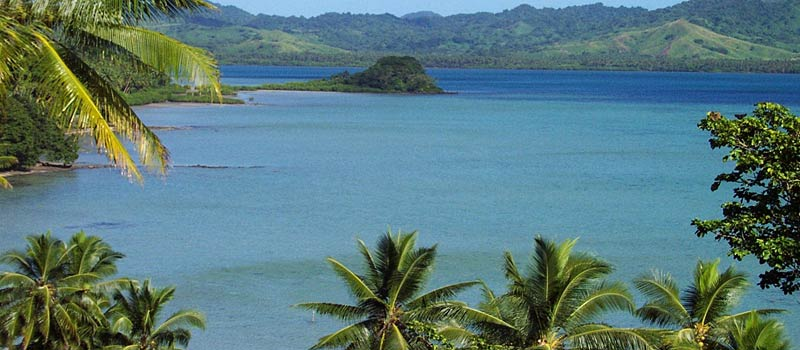 Lomalagi has spectacular views over Natewa Bay - a tropical paradise and with romantic tropical sunsets